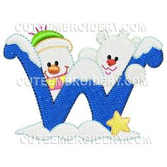 Winter Font Lowercase - Cute Alphabets - Embroidery Fonts