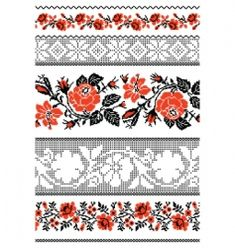 Vector image of Ukrainian embroidery ornament vector, includes Ukrainian, ethnic, style, stitch & accent. Illustrator (.ai), EPS, PDF and JPG image formats.