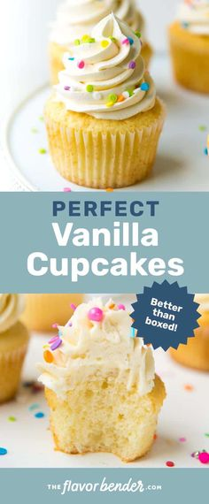 Perfect Vanilla Cupcakes - The Flavor Bender - The only vanilla cupcake recipe you will need. Get all the tips you need to make perfect, moist and soft vanilla cupcakes for any occasion. Slow Cooker Desserts, Tolle Desserts, Köstliche Desserts, Dessert Recipes, Hot Fudge Cake, Hot Chocolate Fudge, White Chocolate, Easy Cupcake Recipes, Fudge Recipes