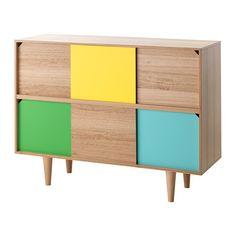 IKEA - TILLFÄLLE, Armario, Las puertas correderas te permiten elegir si quieres mostrar o no tus cosas y no ocupan espacio cuando están abiertas.Patas altas que facilitan la limpieza.Gracias a las variaciones naturales de la veta y el color, los muebles de madera de eucalipto son únicos.