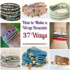 Tutorial DIY Bijoux et Accessoires Image Description AllFreeJewelryMak. - Learn How to Make Jewelry, Free Bead Patterns, Find Free Jewelry Making eBooks, and More! Leather Jewelry, Wire Jewelry, Jewelry Crafts, Beaded Jewelry, Jewelery, Beaded Bracelets, Hippie Jewelry, Diy Leather Bracelet, Silk Wrap Bracelets