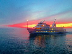 A ferry headed to Nantucket, MA and a gorgeous sunset....ah yessssss