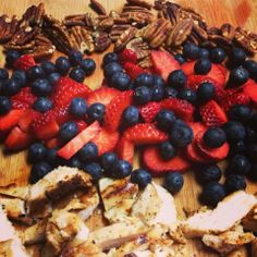 I Don't Go to the Gym: Berry Chicken Salad with Blueberry Vinaigrette