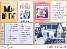 Project Life spread by Jennifer Chapin using the Elle's Studio Daily Grind digitals, exclusive March kit, and Cienna collection