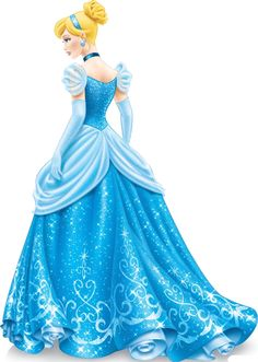 Photo of Cinderella new look (rear view) for fans of Disney Princess. The new look of Cinderella from rear view