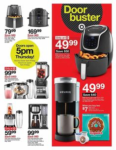 Target Black Friday 2019 Ads and Deals Browse the Target Black Friday 2019 ad scan and the complete product by product sales listing. Black Friday Camera, Black Friday News, Black Friday 2019, Best Phone Deals, Conversation Starter Questions, Luggage Deals, Pod Coffee Makers, Target Coupons, Mini Fridge