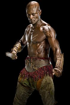 Picture: Peter Mensah shirtless in 'Spartacus: Vengeance.' Pic is in a photo gallery for Peter Mensah featuring 13 pictures. Spartacus Tv Series, Spartacus 2, Spartacus Workout, Peter Mensah, Spartacus Vengeance, Liam Mcintyre, Spartacus Blood And Sand, Character, Entertainment