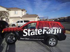 Custom vehicle wrap for State Farm Insurance
