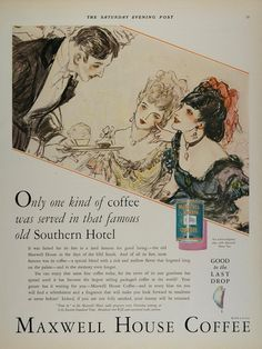 1900-09 Original 1900s Paper Print Magazine Ad White House Coffee Dwinell Wright Co Modern And Elegant In Fashion