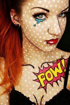 DIY Kostüm: Pop-Art Comic-Figur