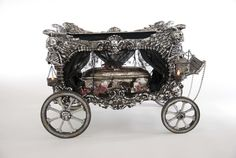 """Katherine's Collection Forest Cemetery Halloween Collection 24"""" Carriage Hearse Free Ship"""