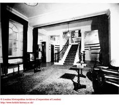 Interior: Staircase at White's Club, St. James's Street