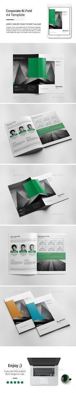 Corporate Bi-fold Brochure Template 07