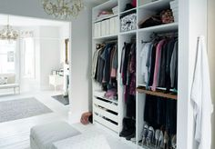 Organized  Elegant Walk-In Closet