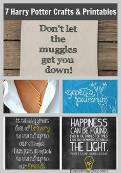 7 Harry Potter Craft Ideas & Printables - EverythingEtsy.com #teenprogramming #childrensprogramming