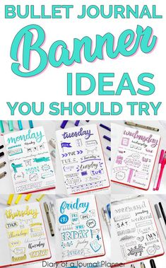 Easy bullet journal banners anyone can make, bullet journal banners headers, bul… Bullet Journal For Beginners, Bullet Journal Hacks, Bullet Journal How To Start A, Bullet Journal Notebook, Bullet Journal Layout, Bullet Journal Ideas Pages, Bullet Journal Inspiration, Bullet Journals, Bullet Journal Headers And Banners