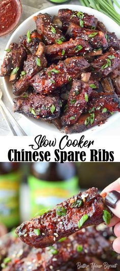 Slow Cooker Chinese Spare Ribs recipe are super tender, incredibly easy. Smother… Slow Cooker Chinese Spare Ribs recipe are super tender, incredibly easy. Smothered in a sticky flavorful sauce that is finger licking good! Slow Cooking, Cooking Recipes, Cooking Ribs, Cooking Pasta, Cooking Turkey, Spare Ribs Slow Cooker, Crockpot Pork Spare Ribs, Spare Ribs Sauce, Pork Spare Ribs Grilled