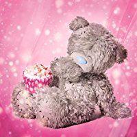 Me To You Tatty Teddy mit 3D-Hologramm-Geburtstagskarte mit Cupcake-Motiv