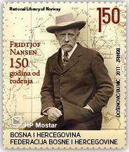 Fridtjof Nansen (1861-1930), Norwegian explorer of Greenland and 1922 Nobel Peace Prize winner.