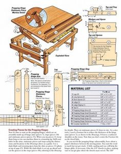#111 Laptop Desk Plans - Furniture Plans