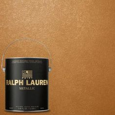 Ralph Lauren, Burnished Gold Metallic Specialty Finish Interior Paint, at The Home Depot - Mobile Metallic Paint Colors, Gold Paint, Western Paint Colors, Laura Lee, Room Colors, Wall Colors, House Colors, Colours, Sponge Rollers