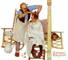 norman rockwell haircut 1000 images about the saturday evening post barbershop 3783