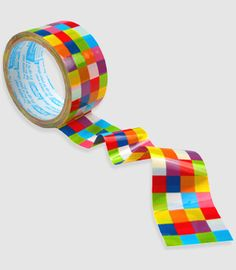 love this rainbow grid packing tape... would make all my snail mail packages look cool.