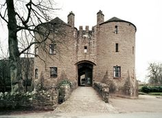 St Briavels Castle, Gloucestershire, England. Built in the 12th century, it was the residence of the warden of the Forest of Dean, a royal hunting ground, where the game was protected and the king alone allowed to  hunt. The impressive gatehouse to the castle.  B. Lowe