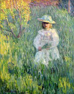 Henri Lebasque, Fillette dans une prairie, 1898.