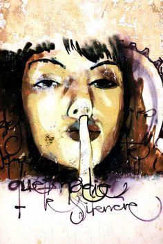 Que nadie te silencie. Graffiti de El Niño de las pinturas. Foto de SecretOlivo