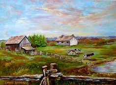 paintings country scenes   ... Country Scene Painting - Eastern Townships Quebec Country Scene Fine