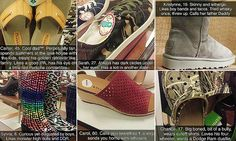 Bored retail employee imagines the lives of shoe buyers | Daily Mail Online