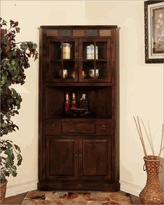 Corner china Cabinet Santa Fe by Sunny Designs SU-2451DC