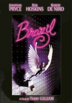 BRAZIL - 1985 Terry Gilliam's 1985 film is a surrealist nightmare of a low-level bureaucrat in a dismal world of the near future. Starring: Jonathan Pryce, Robert De Niro, Michael Palin, Kim Greist Directed By: Terry Gilliam Jonathan Pryce, Sci Fi Movies, Movies To Watch, Good Movies, Movie Tv, Comedy Movies, Bob Hoskins, Film Mythique, Film Science Fiction
