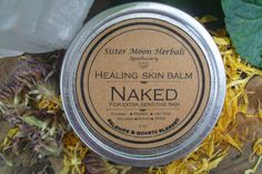 Healing Skin Balm  Naked 2 oz. by SisterMoonHerbals on Etsy