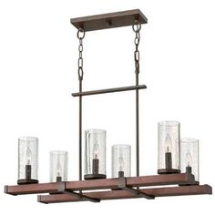 Buy the Fredrick Ramond Rustic Iron Direct. Shop for the Fredrick Ramond Rustic Iron 6 Light 1 Tier Chandelier from the Jasper Collection and save. Linear Chandelier, Iron Chandeliers, Rectangular Chandelier, Ceiling Lights, Chandelier Lighting, Transitional Chandeliers, Rustic Irons, Pendant Lighting, Ceiling Installation