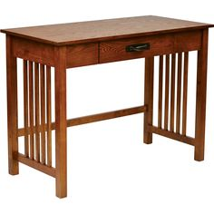 OSP Sierra Writing Desk with Pull Out Drawer, Ash Finish