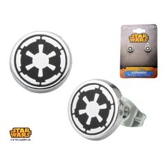 """""""Search your feelings, Lord Vader. You will know it to be true. He could destroy us."""" - Emperor Palpatine Show your allegiance to the big, bad Empire with these Star Wars Empire Symbol Earrings. It's"""