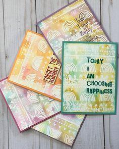 Stampers Anonymous, Note Cards, Stencils, Medium, Happy, Instagram, Index Cards, Ser Feliz, Templates
