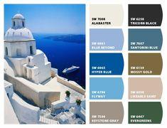 Mediterranean Color Palette | Interior Color Schemes for Global Style: Mediterranean