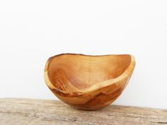 Olive Wood Rustic Bowl 8.6 Inch Diameter by TunisiaHandMade