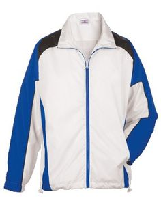 56e1289f39 Woven polyester shell with jersey lining men s jacket and has both water  and wind repellent materials