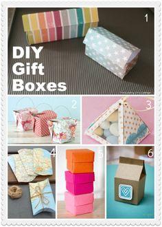 DIY favor boxes