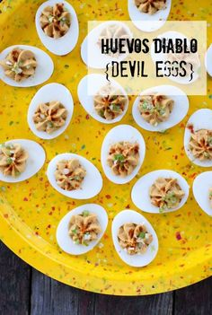 Huevos Diablo Devil Eggs. Sassy with #chipotle, pickled jalape�os, cream cheese, smoked salt and more. I got this recipe at http://porkrecipe.org/posts/Huevos-Diablo-Devil-Eggs-Sassy-with-chipotle-47056