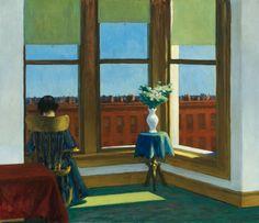 """Room in Brooklyn"", 1932, by Edward Hopper. Oil on canvas, 74 x 86.3 cm (29 1/8 x 34 in.) - Museum of Fine Arts, Boston."