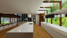 Chris Clout Design Kitchen in this new resort style house on the sunshine coast