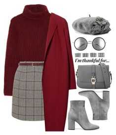 A fashion look from November 2017 featuring etro sweater, Lafayette 148 New York and grey mini skirt. Browse and shop related looks. Teenager Fashion Trends, Teen Fashion Outfits, Mode Outfits, Look Fashion, Korean Fashion, Winter Outfits, Modest Fashion, Spring Outfits, Cute Casual Outfits