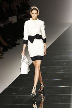 White and black Valentino coat.  Dear Valentino, can I have that beautiful bow coat? I promise to look fabulous wearing it.