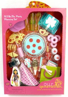 18 Inch Doll Accessories Party Food Lot Dishes Birthday Cake