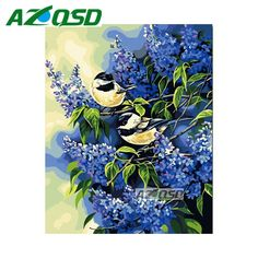 AZQSD Little Bird Full Square Diamond Embroidery Home Decoration DIY Diamond Painting Cross Stitch Mosaic Painting bb4467 #Affiliate